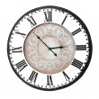 Vintage wall clock with romnumbers — Stockfoto #10957751