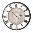 Vintage wall clock with roman numbers — Stock Photo