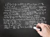 Wiskunde op blackboard — Stockfoto