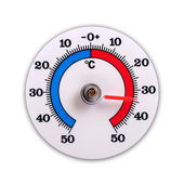 Weather thermometer isolated on white background — Stock Photo