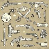 Weapons Set — Stock Vector