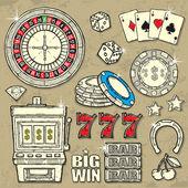 カジノ セット — ストックベクタ