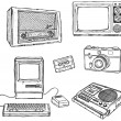 Old media equipment — 图库矢量图片