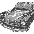 Vintage car, vector illustration - Stock Vector