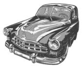 Vintage car, vector illustration — Stock Vector