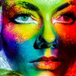 Stock Photo: Woman color face art