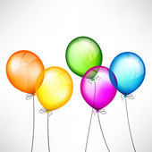 Globos de color — Vector de stock