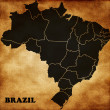 Map of Brazil — Stock Photo