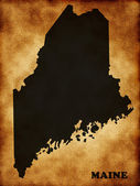 Map of Maine — Stock Photo