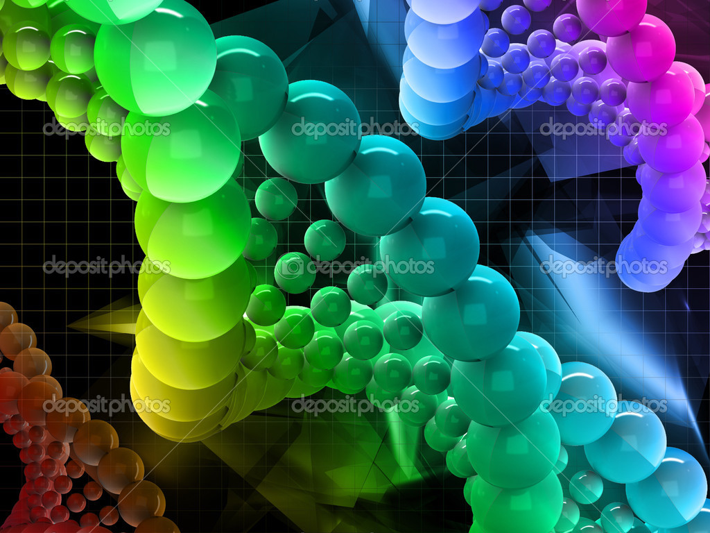 The model of the DNA molecule on the abstract background — Stock Photo #10820247
