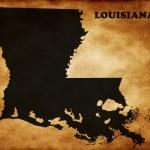Map of Louisiana state — Stock Photo