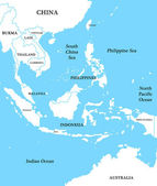 Map of Indonesia — Stock Photo
