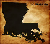 Map of Louisiana state — Stock Photo