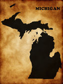 Map of Michigan state — Stock Photo