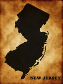 Map of New Jersey state — Stock Photo