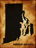 Map of Rhode Island state — Stock Photo