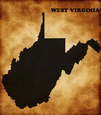 Map of west virginia state — Stock Photo