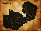 Map of Zambia country — Stock Photo