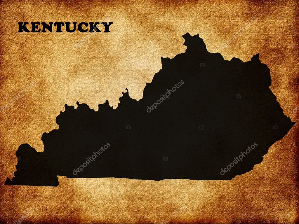 State of Kentucky on the old texture  Stock Photo #10879884