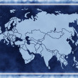 Stock Photo: Map of Eurasia