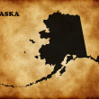Map of Alaska — Stock fotografie