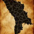 Map of Moldova — Stock Photo