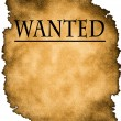 Wanted poster — Stock Photo
