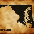 Map of Maryland - Stock Photo