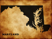 Map of Maryland — Stock Photo