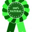 100% natural green label — Stock Photo