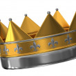 The crown of gold and silver — Stock Photo