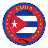Award with the symbols of Republic of Cuba — Stock Photo