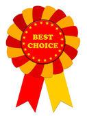 Ribbon Award labeled the best choice — Stock Photo