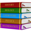 Stock Photo: Stack of school books