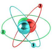 Colorful atom — Stock Photo