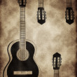 Abstract background with a guitar — Stock Photo