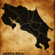Map of the Republic of Costa Rica — Stock Photo #11805870