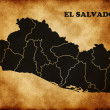 Map of the Republic of El Salvador — Stock Photo