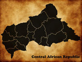 Map Central African Republic — Stock Photo