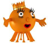 Kul utrymme orange alien — Stockfoto