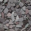 Mixed garden slate chippings — 图库照片