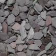 Stock Photo: Mixed garden slate chippings