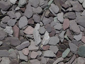 Mixed garden slate chippings — Stock Photo