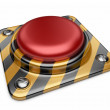 Alarm red button. 3D Icon isolated on white background — Stock Photo #11832989