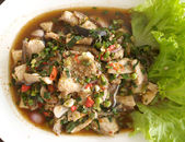 Laab fish thai food — Stock Photo