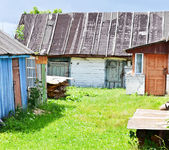 Old rustic yard — Stock Photo