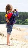 Fotograf dziewczyna — Zdjęcie stockowe
