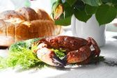 Crab on the table — Stock Photo
