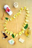 Plumeria lei and spa supplies — Стоковое фото
