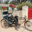 Stock Photo: Slipping riksha